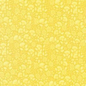 Bilde av Bomullstoff Breeze Blomster Gul