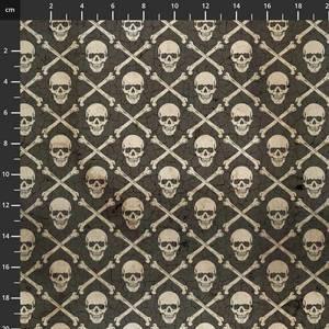Bilde av Bomull stoff Tim Holtz,- Regions Beyond skull