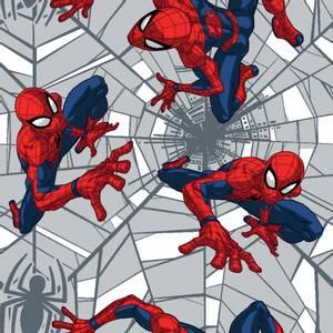 Bilde av Bomull stoff med Spiderman web