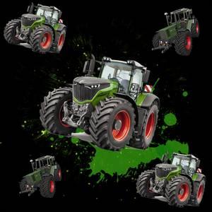 Bilde av BomullJersey print med Traktor svart