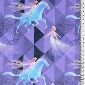 Bilde av French Terry  Disney Elsa fra Frost Lilla
