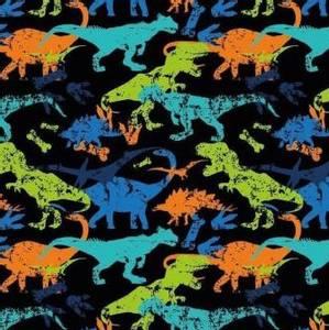 Bilde av Bomullsjersey med Dinosaurer multi