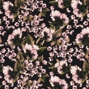 Bilde av Bomulljersey Henry blomster svart
