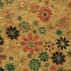 Bilde av Natural Tynn Kork med blomster lys